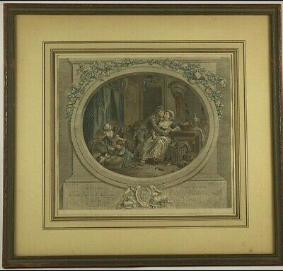 £571.78 • Buy Pair Of 18th Century French Engravings 18.5 X 19.5  Framed