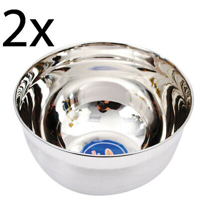£4.95 • Buy New 2 X 30cm Stainless Steel Cooking Bowl Kitchen Vegetables Fruit Salad Mixing