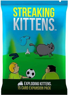 AU14.99 • Buy New-Exploding Kittens Streaking Kittens Expansion Card Game-Au