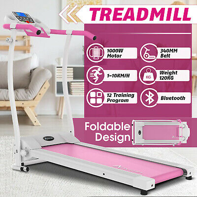 AU369.90 • Buy Electric Foldable Treadmill Incline Exercise Fitness Machine Home Gym Bluetooth