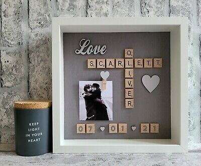 £26 • Buy (d) Scrabble Picture Photo Frame Love Engagement Wedding Anniversary Friends