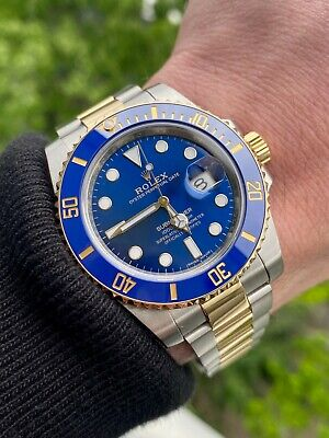 $ CDN18681.85 • Buy Rolex Submariner 116613 Blue 40mm Steel & 18k Yellow Gold - No Box No Papers