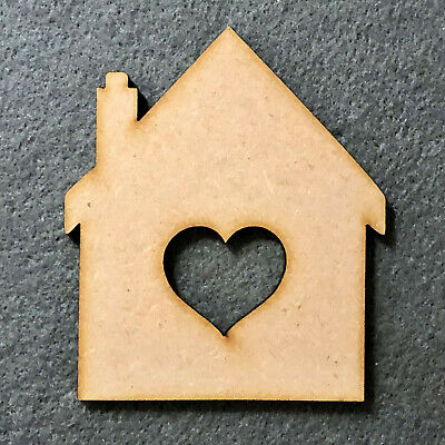£2.05 • Buy New Home Craft House Shape MDF Wooden Blank Gift Tags Decoration Embellishments