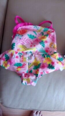 £2.99 • Buy George Baby Girl 0-3 Months Swimming Costume X2 New Without Tags