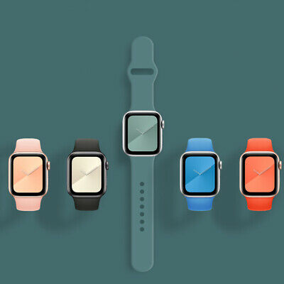 £3.99 • Buy For Apple Watch Strap Band IWatch Series 6 SE 5 4 3 38/40/42/44mm SILICONE Sport