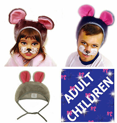 £7.95 • Buy Animal Mouse Fancy Dress Carnival Hat Unisex Adults Kids Children Costume Party