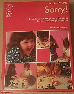 £10 • Buy Vintage Waddingtons Sorry Game Complete 1974 No.423