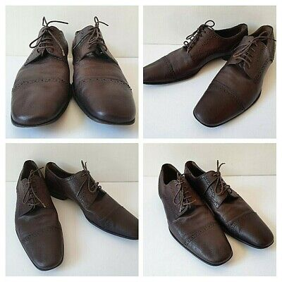 £49 • Buy BALLY Men's UK Size 9.5 Brown Goatskin Leather Daniell Made In Switzerland Shoes