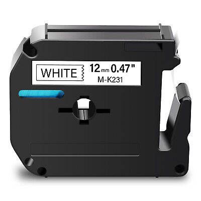 $6.15 • Buy 1PK Black On White Label Tape M-K231 MK-231 For Brother P-Touch PT-70/80/90 12mm