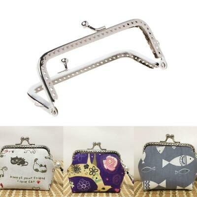 £2.33 • Buy 1PC Square Metal Frame Kiss Clasp For Handle Bag Purse 10cm DIY Accessories