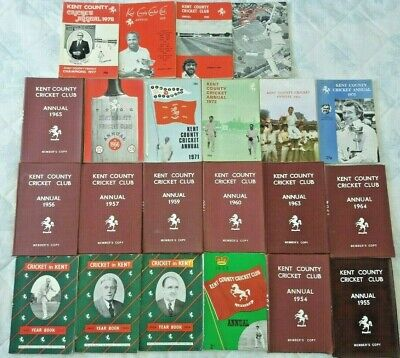 £29.99 • Buy Collection Of Kent County Cricket Club Annuals & Year Books Between 1953 To 1981