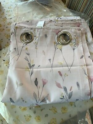 £40 • Buy Dunelm Mill Fiori Thermal Lined Eyelet Curtains 168 X 228 Cms In Pink