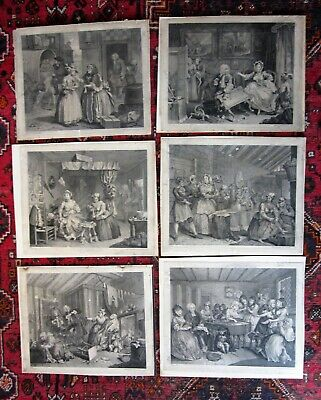 £550 • Buy 1732 Hogarth Harlots Progress Complete Set Of 6 Early State? Antique Caricature