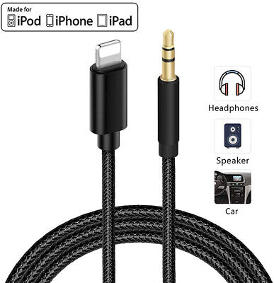 £3.78 • Buy Audio Music Adapter Cable AUX Data Cable For Apple IPhone 12 11 XS XR X 8 7 Plus