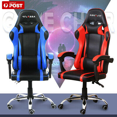 AU86.99 • Buy Adjustable Gaming Office Chair Racing Game Executive Computer PU Leather Seat AU