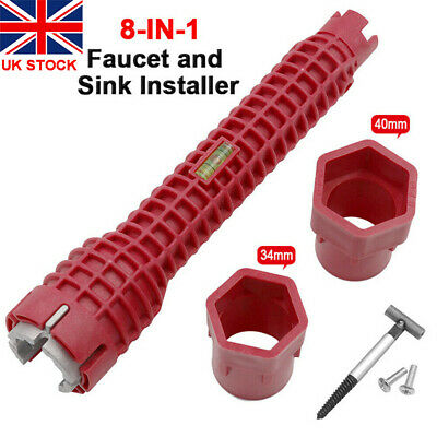 £7.99 • Buy 8 In 1 Faucet And Sink Installer Multi Tool Pipe Wrench For Plumbers Homeowners