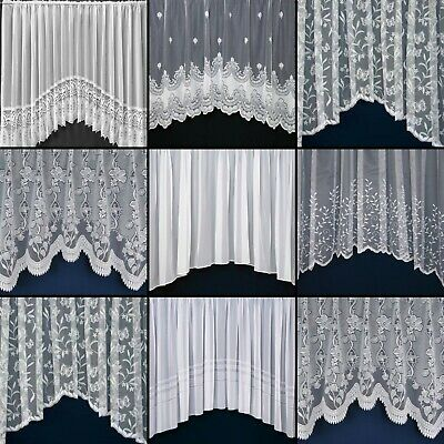 £16.14 • Buy Quality New White Lace Jardiniere Net Curtains For Living Room, Bedroom, Kitchen