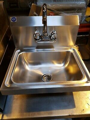 £94.95 • Buy Commercial Stainless Steel Hand Wash Basin Sink + Taps - Latest Design - New