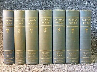 £45 • Buy The Poetical Works Of Lord Byron 7 Volume Book Set Byron's Works