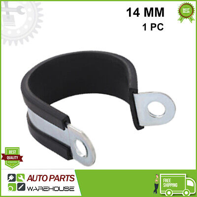 £1.99 • Buy Stainless Steel Rubber Lined P Clips Hose Clamp Pipe Cable P Clip Metal Wir 14MM