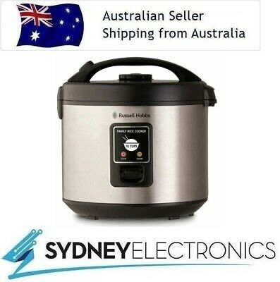 AU53.90 • Buy Russell Hobbs 10 Cup Family Rice Cooker/ Veggie/ Non- Stick Cooking- RHRC1