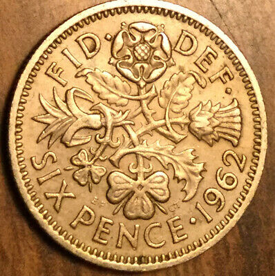 £1.53 • Buy 1962 Uk Gb Great Britain Sixpence Coin