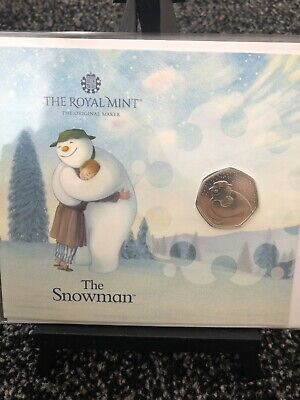 £10.99 • Buy 2020 Brilliant Uncirculated Raymond Briggs Snowman And James UK 50p Fifty Pence
