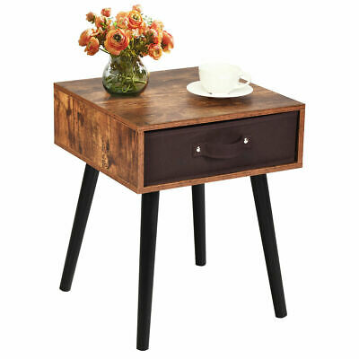 £44.99 • Buy Modern Utility Bedside Table Sofa Side Table Home Nightstand W/ Drawer & Handles