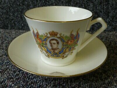 £10 • Buy Edward VIII Coronation Cup & Saucer 12th May 1937 Art Deco Style Cup