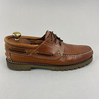 £29.68 • Buy Charles Tyrwhitt Brown Leather Boat Deck Casual Moccasin Lace Up Shoes 42 UK8