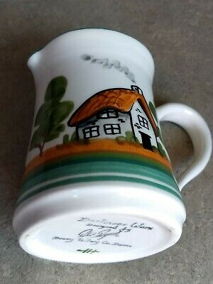 £4 • Buy Devon Bovey Pottery Glazed Small Milk Cream Jug  Hand Crafted Signed Limited