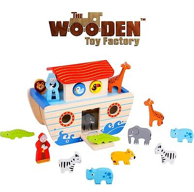£16.99 • Buy The Wooden Toy Factory - Noah's Ark Playset Wooden Shape Sorter NEW(DAMAGED BOX)