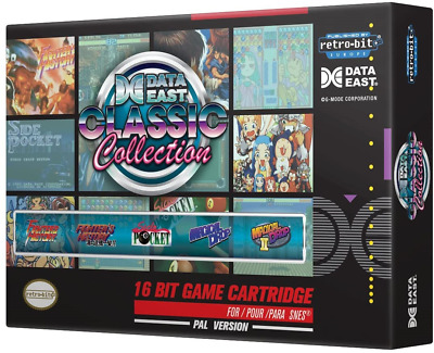 £22.56 • Buy Retro-Bit Europe Data East Classic Collection PAL Version SNES Cartridge For NES