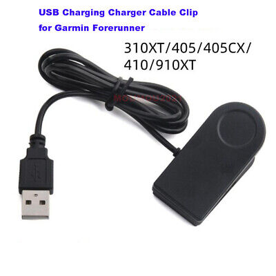 £5.28 • Buy USB Charging Charger Cable Clip For Garmin Forerunner 405CX 405 410 910XT 310XT