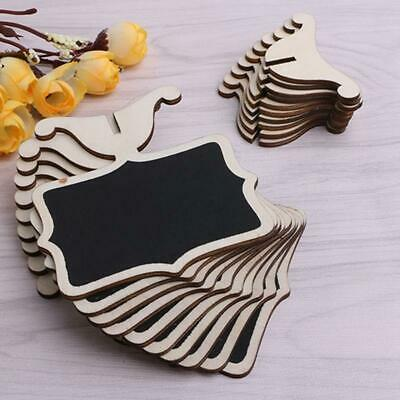 £3.85 • Buy 10Pcs Mini Wooden Blackboard Chalkboard Wedding Party Stand Table Numbers Place