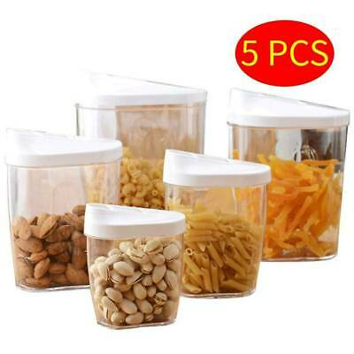 £5.98 • Buy 5PC Cereal Dispenser Plastic Clear Box Dry Food Pasta Rice Storage Container UK