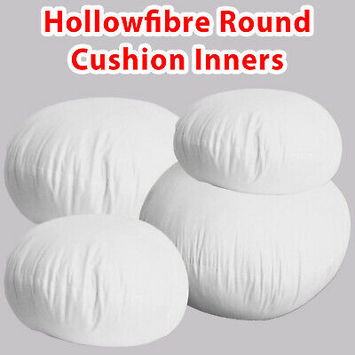 £5.34 • Buy Round Cushion Hollowfibre Pads Inserts Inner Fillers Scatter Chair Seat Pillow