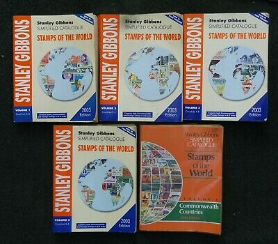 £33 • Buy Stanley Gibbons Stamps Of The World 2003 Complete + 1993 Commonwealth Countries