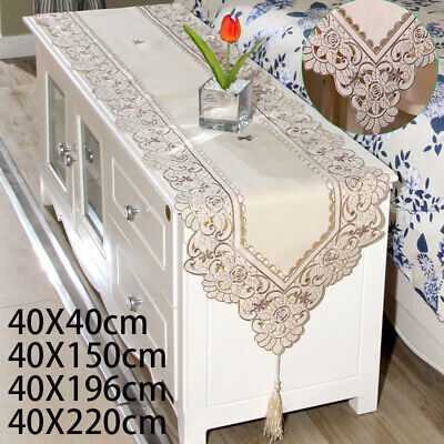 AU9.85 • Buy Vintage Embroidered Table Runner Kitchen Dining Wedding Party Decor Table Cover