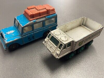 £2 • Buy Matchbox Series Alvis Stalwart No61 & Land Rover No12 Made In England By Lesney
