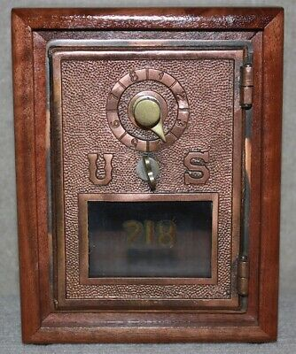 $68 • Buy Antique USPS P O Post Office Box Door Bank With Combination