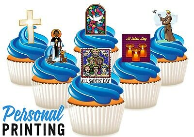£2.79 • Buy ALL SAINTS DAY 6 MIX  - 12 Edible Cupcake Toppers Love Religious