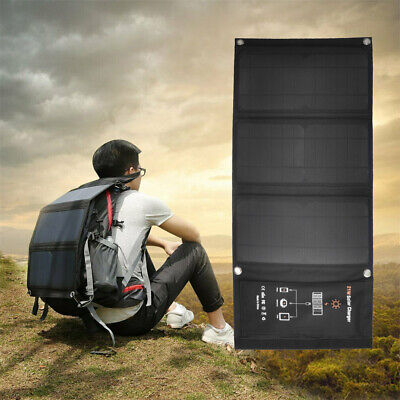 £39.88 • Buy 21W Solar Charger With Foldable Panel For IPhone X 8 Plus Samsung IPad Tablet