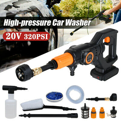 £60.99 • Buy Cordless Electric Pressure Washer Water High Power Jet Wash Patio Car + Battery