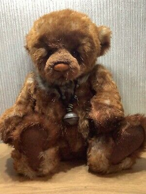 """£79.95 • Buy Charlie Bear Plush Collectable Soft Toy Rare Retired Large 21"""" Brown Bell Walter"""