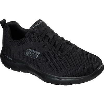 £49.99 • Buy Skechers Mens Summits Brisbane WIDE Fit All Black Trainers Shoes Size UK 8-13