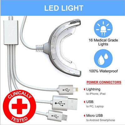 AU5.95 • Buy Portable LED Teeth Whitening Device 3 Ports For Android IOS USB SystemB-qk