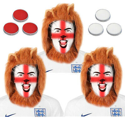 £19.99 • Buy 3 Lions Fancy Dress Mens England Football Supporter Outfit Costume Mane