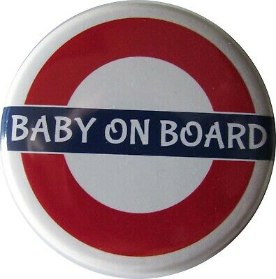 £2.39 • Buy BABY ON BOARD Badge, LARGE Up To 55mm Pin Or Clip #1