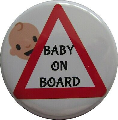 £2.39 • Buy BABY ON BOARD Badge, LARGE Up To 55mm Pin Or Clip #5